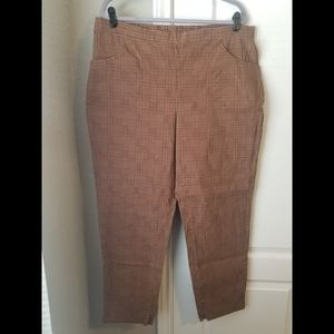 White Stag XXL/2X Brown Houndstooth Pants